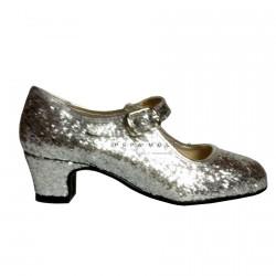 Zapato FERIA Glitter Plata O80