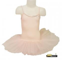 Tutú rosa claro ballet poliamida