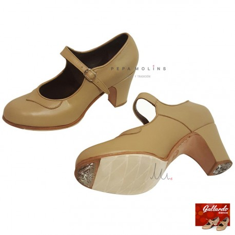 Mercedes Zapato Beige I Profesional Flamenco 8YwEYU