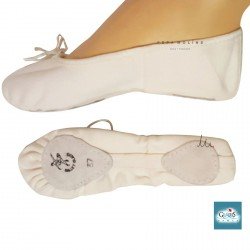 Ballet slipper on white canvas Gladis