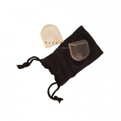 Plastic heel protector with sheath