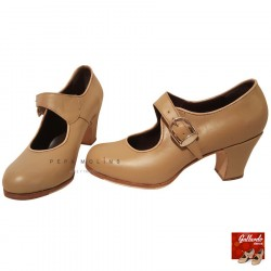 Zapato Flamenco Profesional Mabel N beige