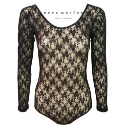 Floral lace jersey