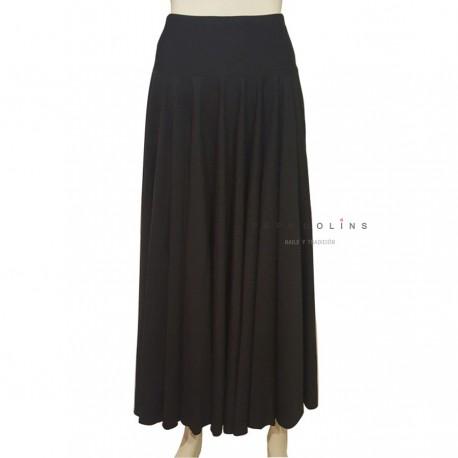4630910ec falda negra flamenco capa sin pletina sin volantes
