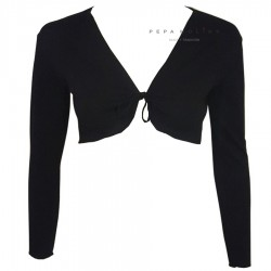 Short ballet jacket with bow