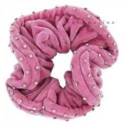 COLETERO Terciopelo Strass rosa