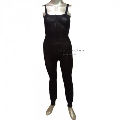 Black jumpsuit Heater SKINLEGREC